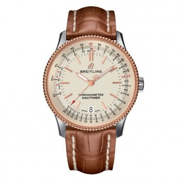 Navitimer 1 Automatic 38mm 3 Hands Chronometer Rose Gold Bezel