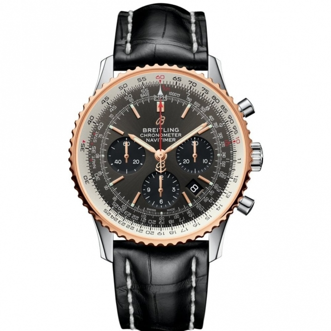 Navitimer 1 B01 Automatic Chronograph 43mm with Rose Gold Bezel
