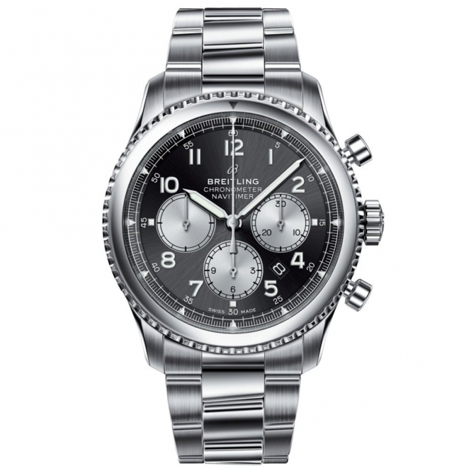 Navitimer 8 B01 Automatic Chronograph 43mm with Black and Silver Dial