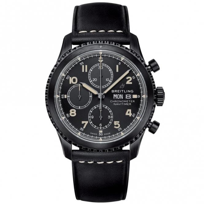 Navitimer 8 Chronograph Automatic Watch - 43mm BlackSteel DLC