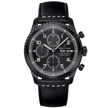Navitimer 8 Chronograph Automatic Watch - 43mm BlackSteel DLC
