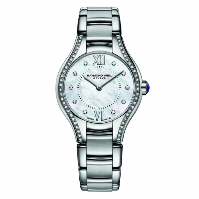 Noemia ladies quartz watch in stainless steel with diamonds