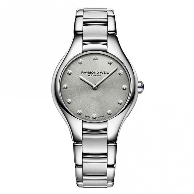 Noemia Ladies Watch with Grey Metallic Diamond-Set Dial