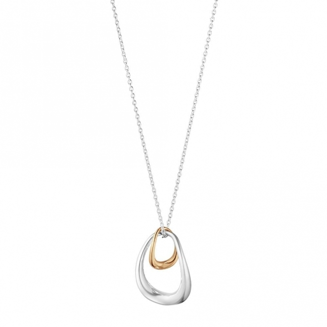 Offspring Sterling Silver and 18ct Rose Gold Pendant