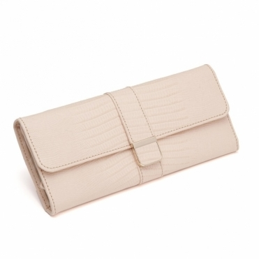 Palermo Jewellery Roll in BlushTeju Lizard Finish