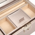Palermo Small Jewellery Box in Pewter Smooth Pebble Leather