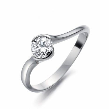 Palladium Brilliant Cut Diamond Solitaire 1U15A