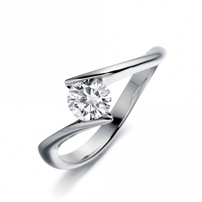 Palladium Brilliant Cut Diamond Solitaire 1V40A