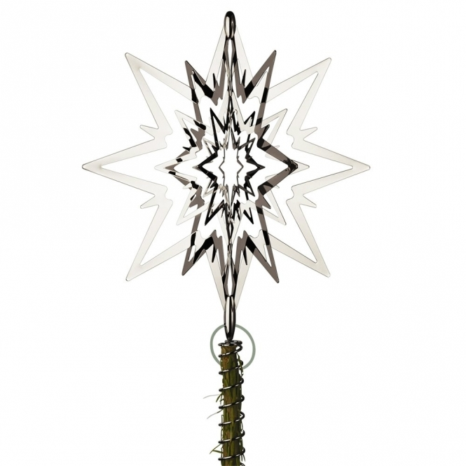 Palladium Plated Star Topper for Christmas Tree - Medium