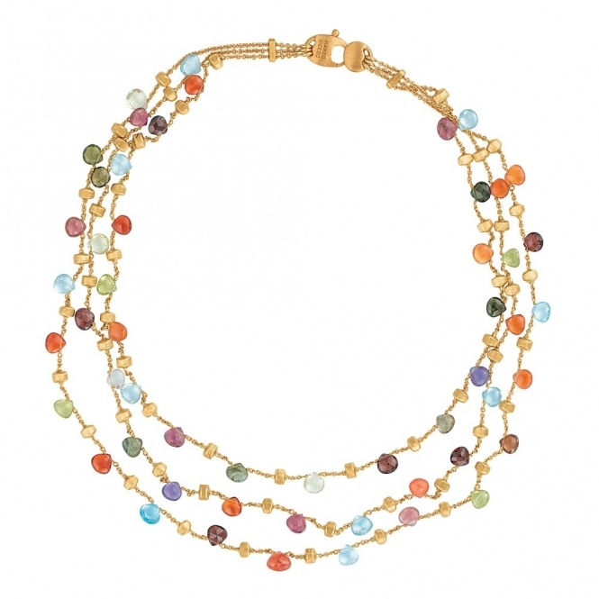 Paradise 18ct Yellow Gold Mixed Stone Necklace