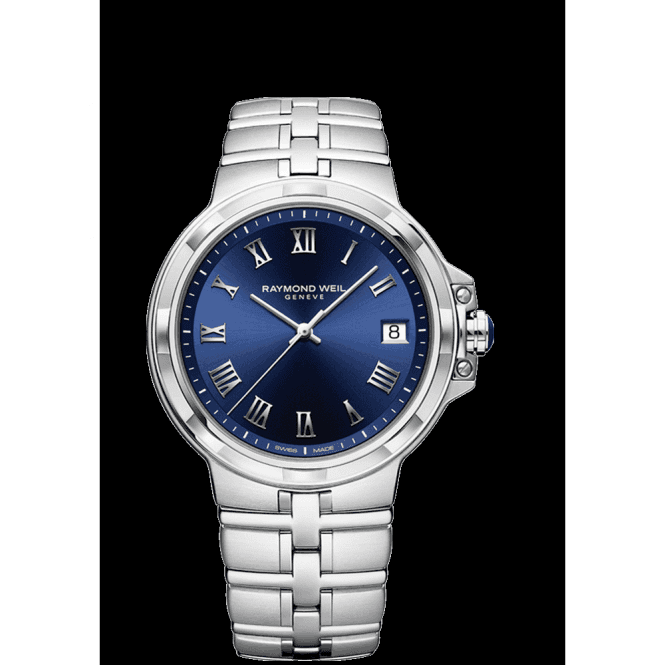 Parsifal Gents Steel Quartz Watch -41mm with Classic Blue Dial