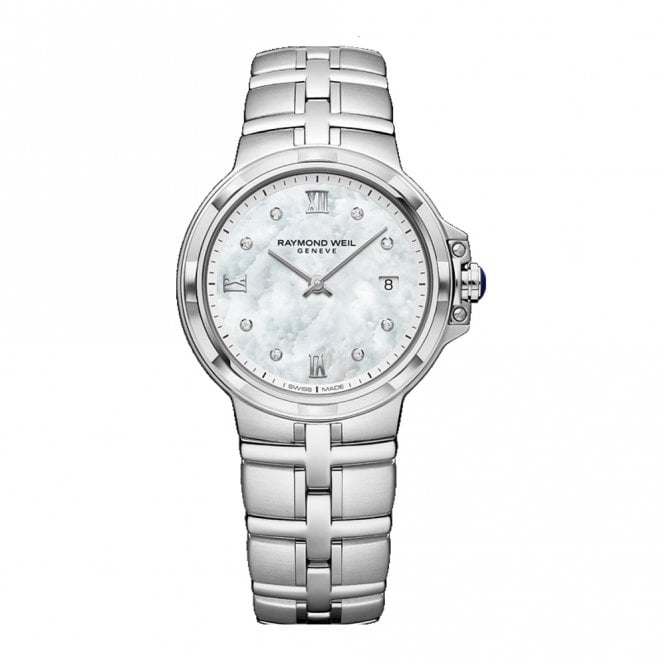 Parsifal Ladies 30mm Quartz Watch Mother-of-Pearl Dial and Diamond Hour Markers