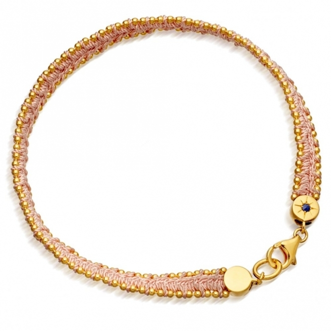 Peach Blush Woven Biography Bracelet