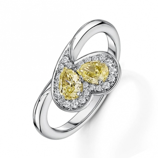 9f4a6056598 Pear shape fancy yellow diamond ring - Engagement from Wharton ...