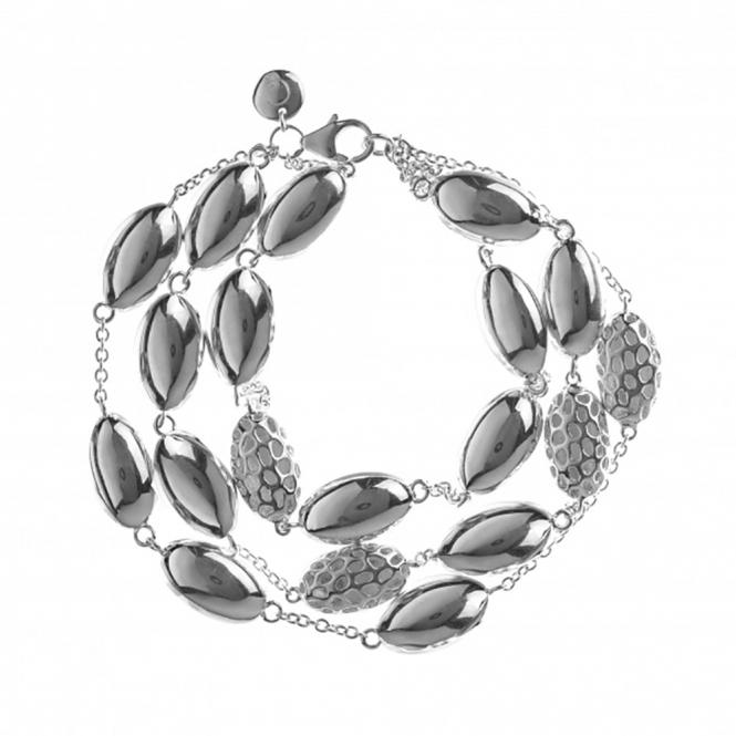 Pebble Triple Strand Bracelet