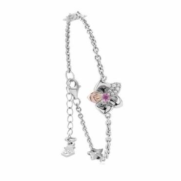 Pink Sapphire Orchid Bracelet