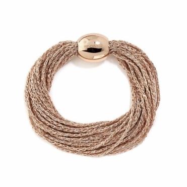 Pink Sterling Silver DNA Bracelet