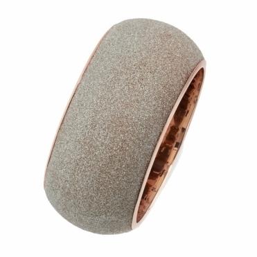 Pink Sterling Silver Polvere di Sogni Bronze Glitter Bracelet