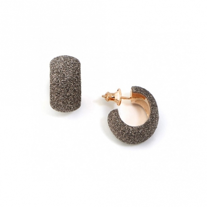 Pink Sterling Silver Polvere di Sogni Bronze Glitter Earrings