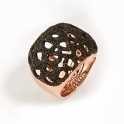 Pink Sterling Silver Polvere di Sogni Soft Ring