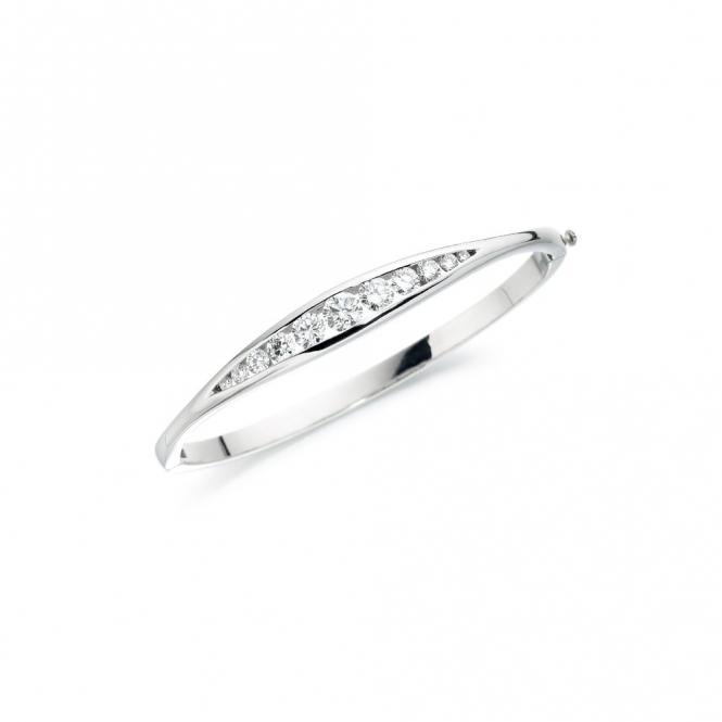 Plantinum Diamond Set Bangle. Design No. 1T88A