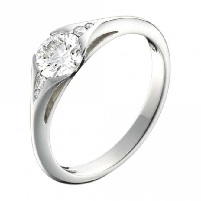 Platinum Brilliant Cut Diamond Engagement Ring