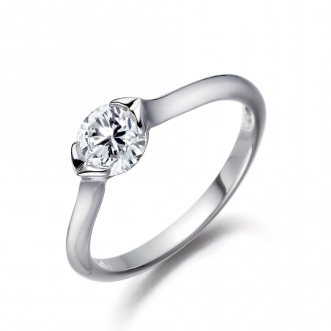 Platinum Brilliant Cut Diamond Ring 1R45A