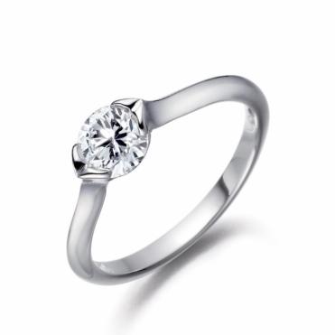 Platinum Brilliant Cut Diamond Ring 1R45A