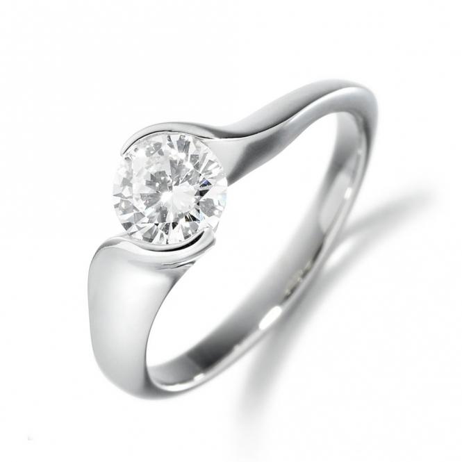 Platinum Brilliant Cut Diamond Ring 1T53A 0.50ct
