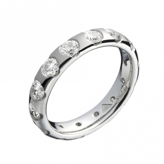 Platinum Brilliant Cut Diamond Wedding Ring