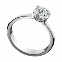 Platinum Brilliant Cut Four Claw Diamond Ring 1V56A