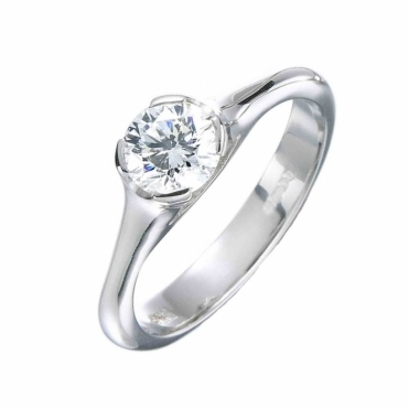 Platinum Brilliant Cut Solitaire Diamond Ring
