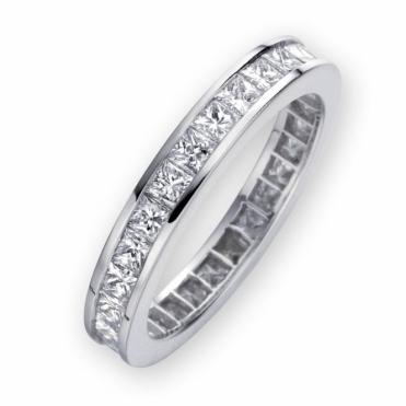 Platinum Diamond Channel Set Eternity Ring