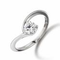 Platinum Diamond Engagement Ring with 0.50ct Brilliant-Cut Diamond