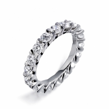 Platinum Diamond Full Eternity Ring 1U19B