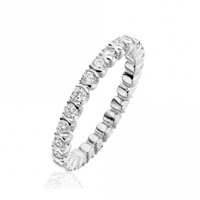 Platinum Diamond Full Eternity Ring 1X42C