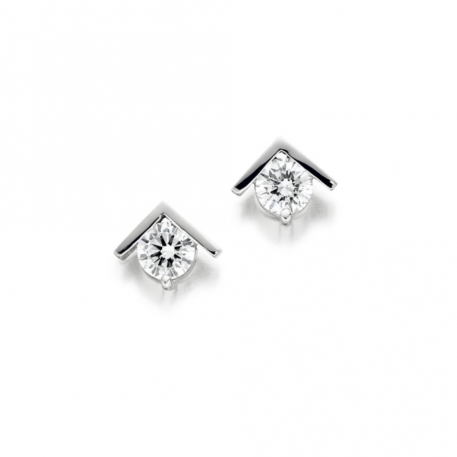 Platinum Diamond Set Earrings. Design No. 1U32A