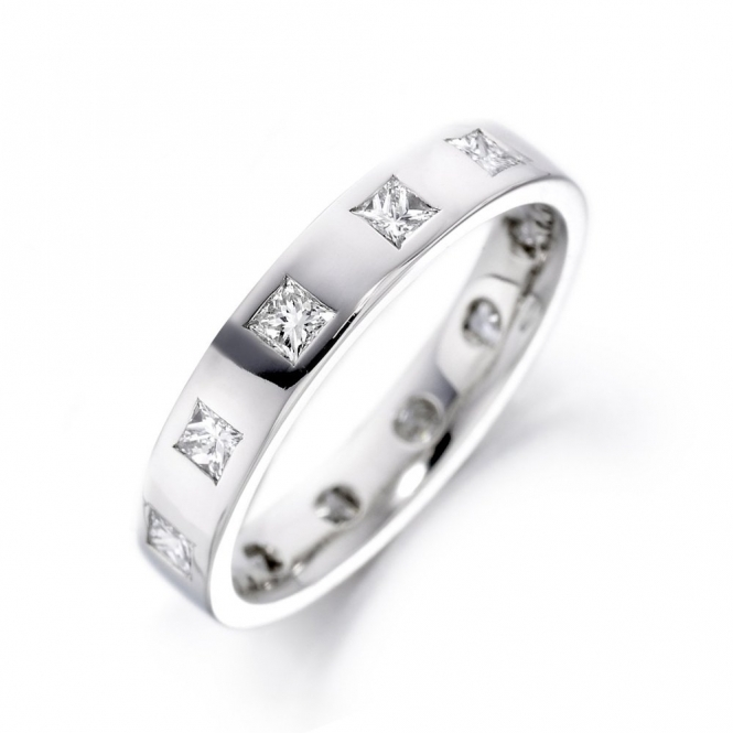 Platinum Diamond Wedding Ring. Design No. 1U44A