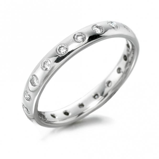 Platinum Gypsy Set Diamond Wedding Ring