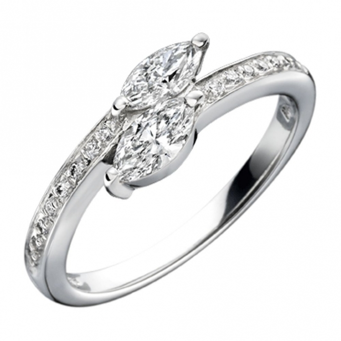 Platinum Marquise Cut Diamond Engagement Ring