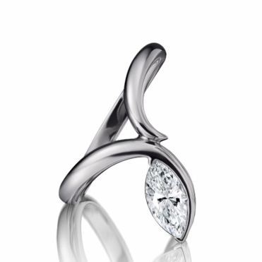 Platinum Marquise Diamond Solitaire Ring 1X35A