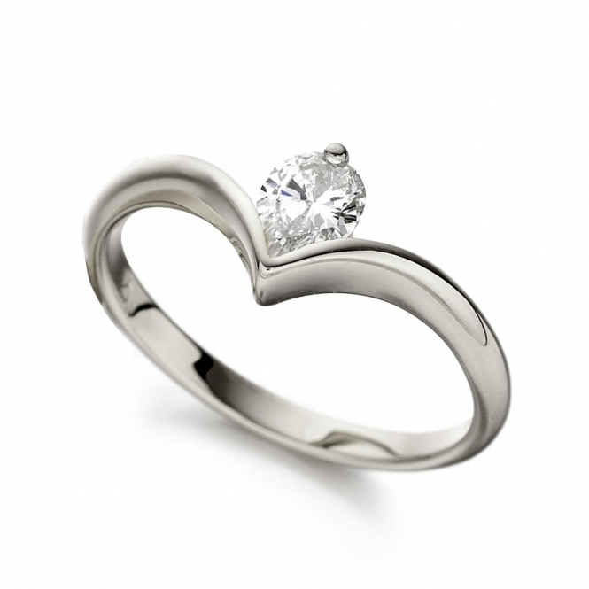 Platinum Pear Shape Diamond Ring