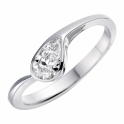 Platinum Pear Shaped Diamond Engagement Ring