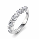 Platinum Pear Shaped Diamond Ring. Design No. 1P80A