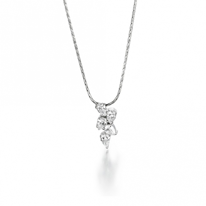 Platinum Pear Shaped Diamond Set Pendant. Design No. 1U27A