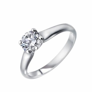Platinum Solitaire Brilliant Cut Diamond Ring 1Q73C