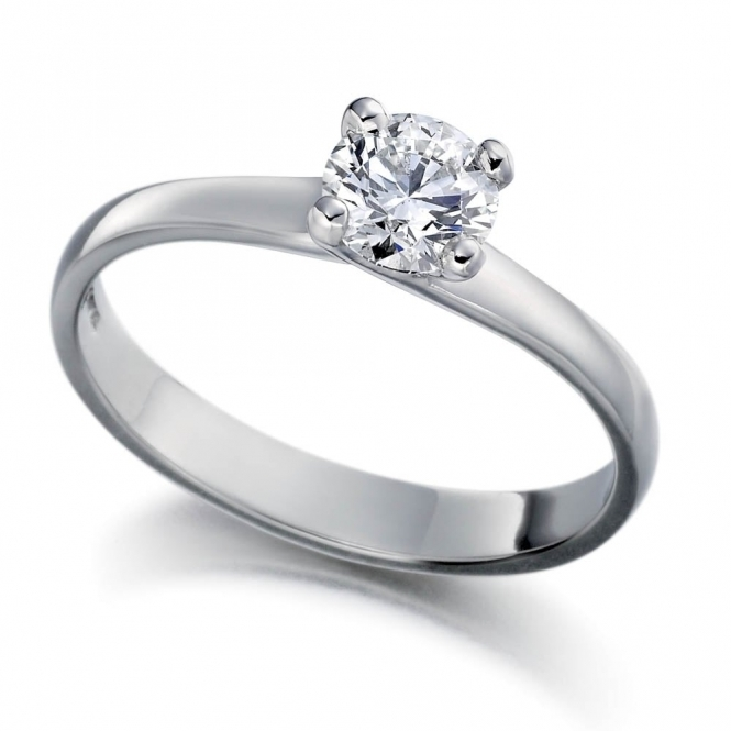 Platinum Solitaire Diamond Ring 1U11A