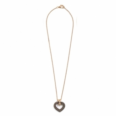 Polvere di Sogni Pink Sterling Silver & Antelope Dust Heart Pendant