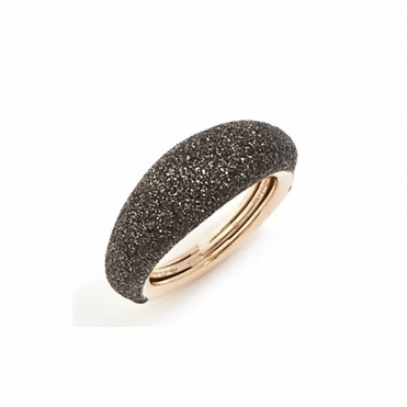 Polvere di Sogni Pink Sterling Silver & Bronze Dust Anello Domed Ring