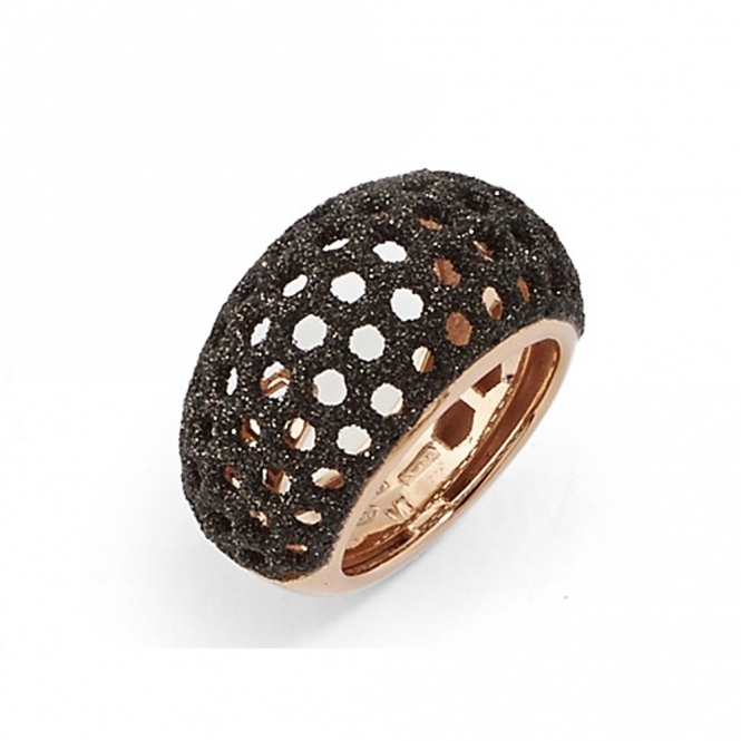 Polvere di Sogni Pink Sterling Silver & Bronze Dust Cut-Out Ring